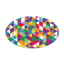 Isometric Pillowcase Oval Car Magnet