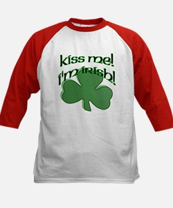 Kiss me, I'm Irish! Kids Baseball Jersey