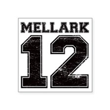 "Dist12_Mellark_Ath Square Sticker 3"" x 3"""