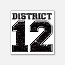 "Dist12_Ath Square Sticker 3"" x 3"""