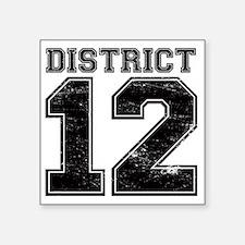"""Dist12_Ath Square Sticker 3"""" x 3"""""""