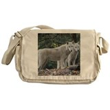 White wolf Messenger Bags & Laptop Bags
