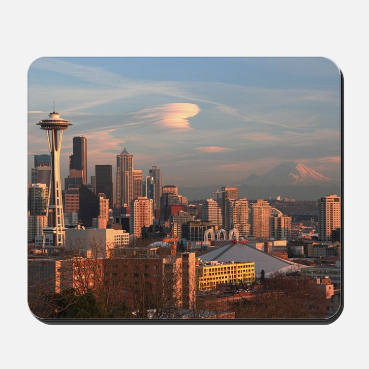 Seattle Space Needle Skyline Mousepad