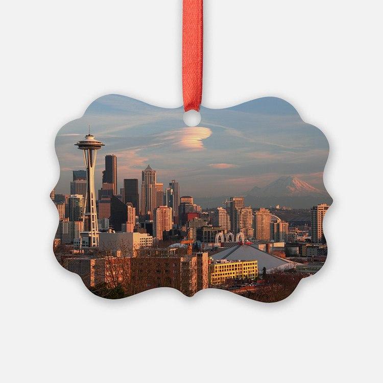 Seattle Space Needle Skyline Ornament