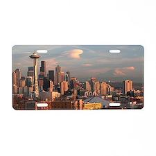 Seattle Space Needle Skylin Aluminum License Plate