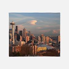 Seattle Space Needle Skyline Throw Blanket