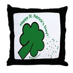 Shamrock and Confetti Throw Pillow