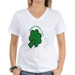 Shamrock and Confetti Women's V-Neck T-Shirt