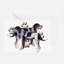 Coonhounds and Paws Greeting Card