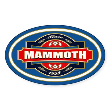 Mammoth Mtn Old Label Sticker (Oval)