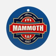 Mammoth Mtn Old Label Ornament (Round)