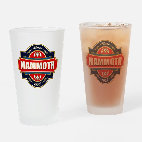 Mammoth Mtn Old Label Drinking Glass