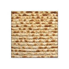 "Matzah Square Sticker 3"" x 3"""