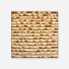 "Matzah Square Sticker 3"" x 3"""