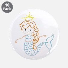 Marmaid Fairy 3.5&Quot; Button (10 Pack)