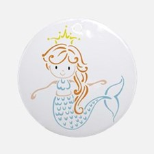 Marmaid Fairy Ornament (Round)