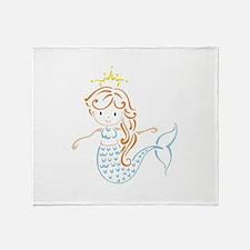 Marmaid Fairy Throw Blanket