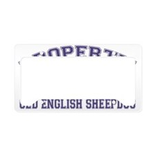 oldenglishsheepdogproperty License Plate Holder