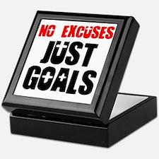 no-excuses-just-goals Keepsake Box