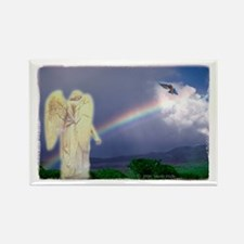 Rainbow Angel Rectangle Magnet (10 pack)