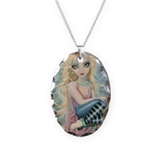 Starlight Fairy Necklace Oval Charm