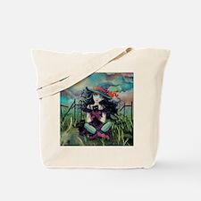 Kitten Witch Halloween Art Tote Bag