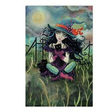 Kitten Witch Halloween Postcards (Package of 8)