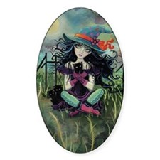 Kitten Witch Halloween Decal