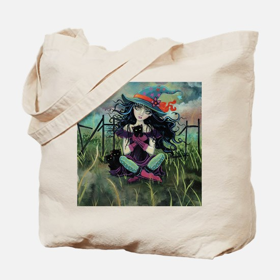 Kitten Witch Halloween Tote Bag