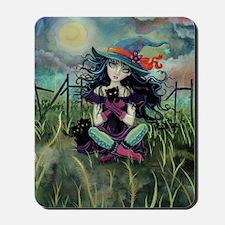 Kitten Witch Halloween Mousepad
