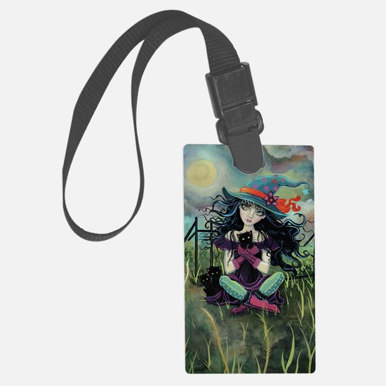 Kitten Witch Halloween Luggage Tag