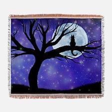 Cosmic Cat Woven Blanket