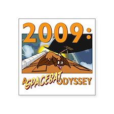 "2009 spacebat shirt Square Sticker 3"" x 3"""