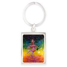 TA0922 Shiva Round Magnet Portrait Keychain