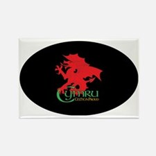CP sticker oval Cymru 2 Rectangle Magnet