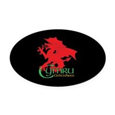 CP sticker oval Cymru 2 Oval Car Magnet