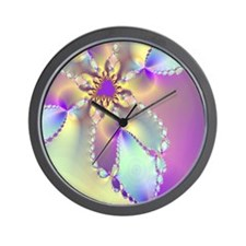 Lavender shower curtain Wall Clock