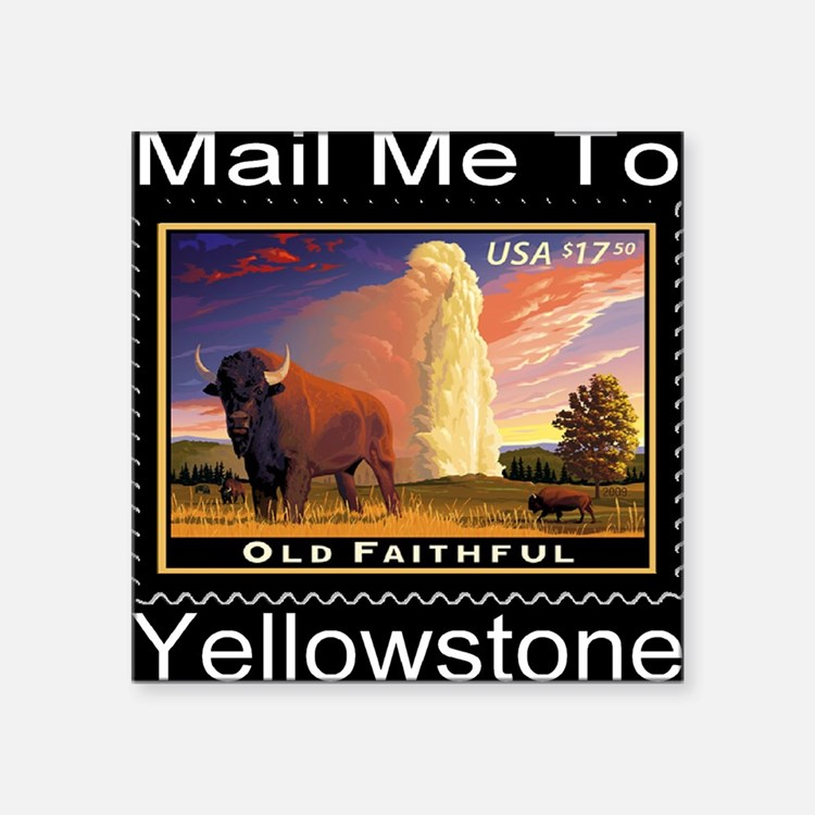 "mailmeto_yellowstone_revers Square Sticker 3"" x 3"""