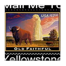 mailmeto_yellowstone_reverse Tile Coaster