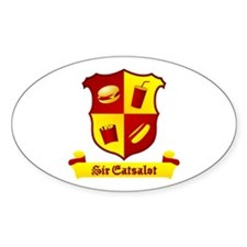 Sir Eatsalot Oval Decal