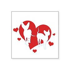"HH_logo_White for dark shir Square Sticker 3"" x 3"""