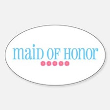 Maid of Honor (flowers) Oval Decal