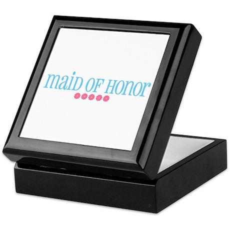Maid of Honor (flowers) Keepsake Box
