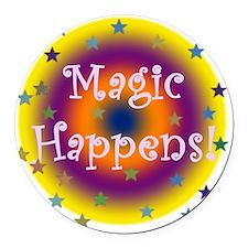 Magic Happens 1 Round Car Magnet
