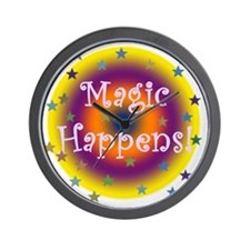 Magic Happens 1 Wall Clock