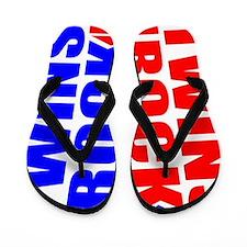 Twins rock gift Flip Flops