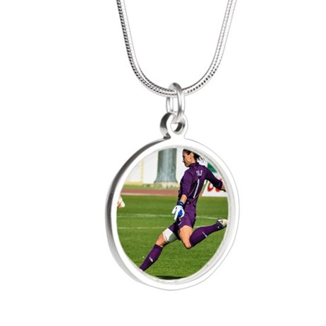 Hope Solo Silver Round Necklace