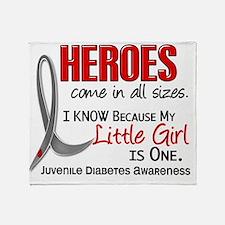 D Heroes All Sizes Little Girl Juven Throw Blanket