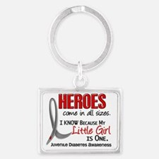 D Heroes All Sizes Little Girl  Landscape Keychain