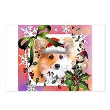 Pembroke Corgi Holiday Postcards (Package of 8)